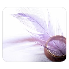 Ring Feather Marriage Pink Gold Double Sided Flano Blanket (small)