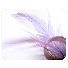 Ring Feather Marriage Pink Gold Double Sided Flano Blanket (medium)