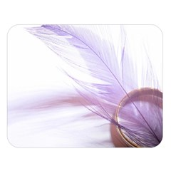Ring Feather Marriage Pink Gold Double Sided Flano Blanket (large)