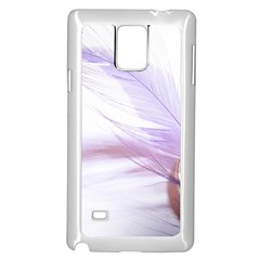Ring Feather Marriage Pink Gold Samsung Galaxy Note 4 Case (white)