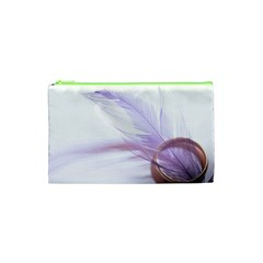 Ring Feather Marriage Pink Gold Cosmetic Bag (xs)