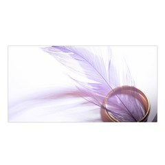 Ring Feather Marriage Pink Gold Satin Shawl