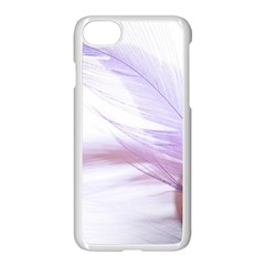 Ring Feather Marriage Pink Gold Apple Iphone 7 Seamless Case (white)
