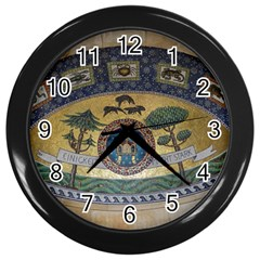 Peace Monument Werder Mountain Wall Clocks (Black)