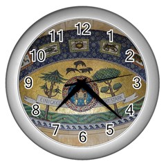 Peace Monument Werder Mountain Wall Clocks (silver)