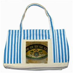 Peace Monument Werder Mountain Striped Blue Tote Bag