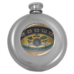 Peace Monument Werder Mountain Round Hip Flask (5 Oz)