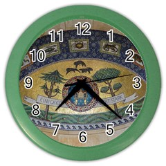 Peace Monument Werder Mountain Color Wall Clocks