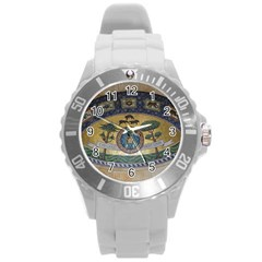 Peace Monument Werder Mountain Round Plastic Sport Watch (l)