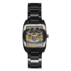 Peace Monument Werder Mountain Stainless Steel Barrel Watch