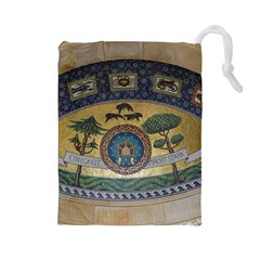 Peace Monument Werder Mountain Drawstring Pouches (large)