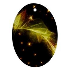 Particles Vibration Line Wave Ornament (oval)