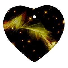 Particles Vibration Line Wave Ornament (heart)