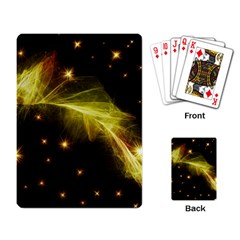 Particles Vibration Line Wave Playing Card