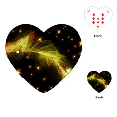 Particles Vibration Line Wave Playing Cards (heart)