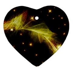 Particles Vibration Line Wave Heart Ornament (2 Sides)