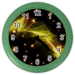 Particles Vibration Line Wave Color Wall Clocks