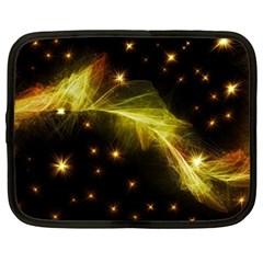 Particles Vibration Line Wave Netbook Case (large)