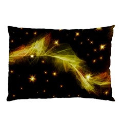 Particles Vibration Line Wave Pillow Case