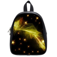 Particles Vibration Line Wave School Bags (small)