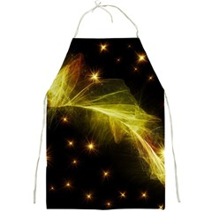 Particles Vibration Line Wave Full Print Aprons