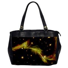 Particles Vibration Line Wave Office Handbags