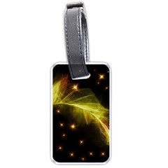 Particles Vibration Line Wave Luggage Tags (One Side)