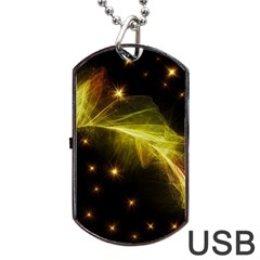 Particles Vibration Line Wave Dog Tag Usb Flash (one Side)