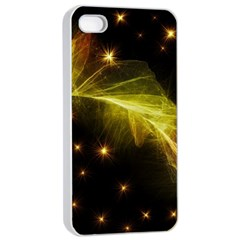 Particles Vibration Line Wave Apple Iphone 4/4s Seamless Case (white)