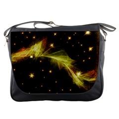 Particles Vibration Line Wave Messenger Bags