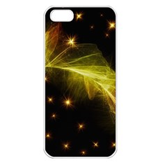 Particles Vibration Line Wave Apple Iphone 5 Seamless Case (white)