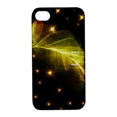 Particles Vibration Line Wave Apple iPhone 4/4S Hardshell Case with Stand