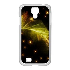 Particles Vibration Line Wave Samsung Galaxy S4 I9500/ I9505 Case (white)