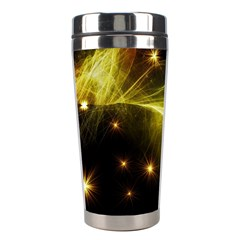 Particles Vibration Line Wave Stainless Steel Travel Tumblers
