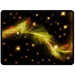 Particles Vibration Line Wave Double Sided Fleece Blanket (large)