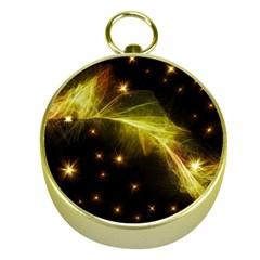 Particles Vibration Line Wave Gold Compasses