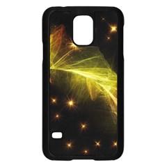 Particles Vibration Line Wave Samsung Galaxy S5 Case (black)