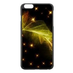 Particles Vibration Line Wave Apple Iphone 6 Plus/6s Plus Black Enamel Case