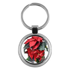Star Of Bethlehem Star Red Key Chains (round)