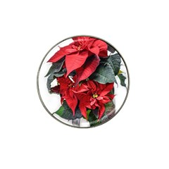 Star Of Bethlehem Star Red Hat Clip Ball Marker