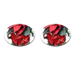 Star Of Bethlehem Star Red Cufflinks (oval)