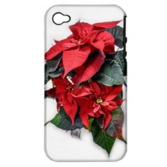 Star Of Bethlehem Star Red Apple Iphone 4/4s Hardshell Case (pc+silicone)