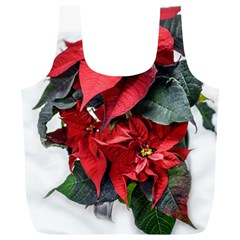 Star Of Bethlehem Star Red Full Print Recycle Bags (l)