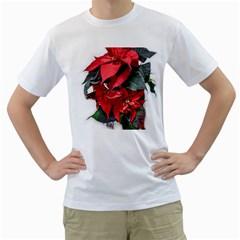 Star Of Bethlehem Star Red Men s T Shirt (white)
