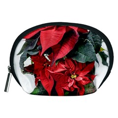 Star Of Bethlehem Star Red Accessory Pouches (medium)