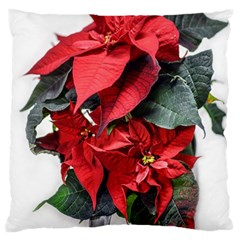 Star Of Bethlehem Star Red Large Flano Cushion Case (two Sides)