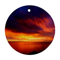 Sunset The Pacific Ocean Evening Ornament (round)