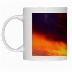 Sunset The Pacific Ocean Evening White Mugs
