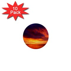 Sunset The Pacific Ocean Evening 1  Mini Buttons (10 Pack)