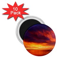 Sunset The Pacific Ocean Evening 1.75  Magnets (10 pack)